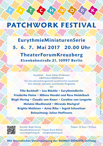 Poster for the Patchwork Eurythmy Festival in Berlin, May 2017
