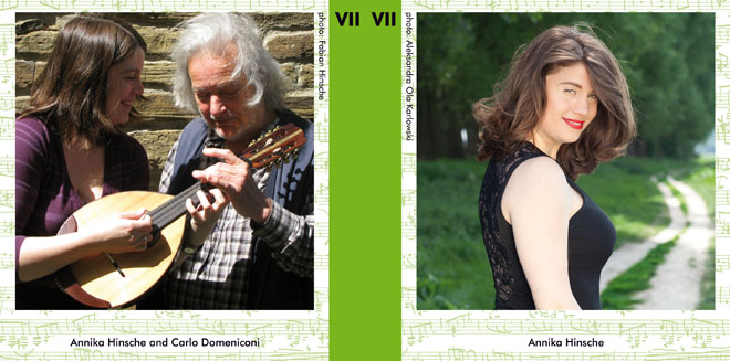 Pages 2 and 15 of the booklet layout for the CD Selected Works VII: 12 Preludes for solo mandolin