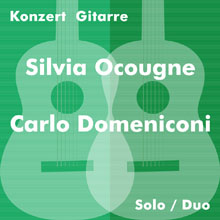 Flyer: Silvia Ocougne and Carlo Domeniconi - guitar concert, Berlin, 30 October 2015