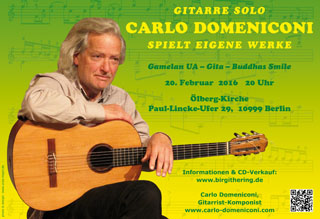 Carlo Domeniconi concert in Berlin, February 2016