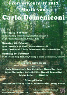 Carlo Domeniconi February concerts 2017