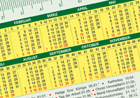 GSE pocket calendar